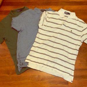 Set of three Ralph Lauren polos